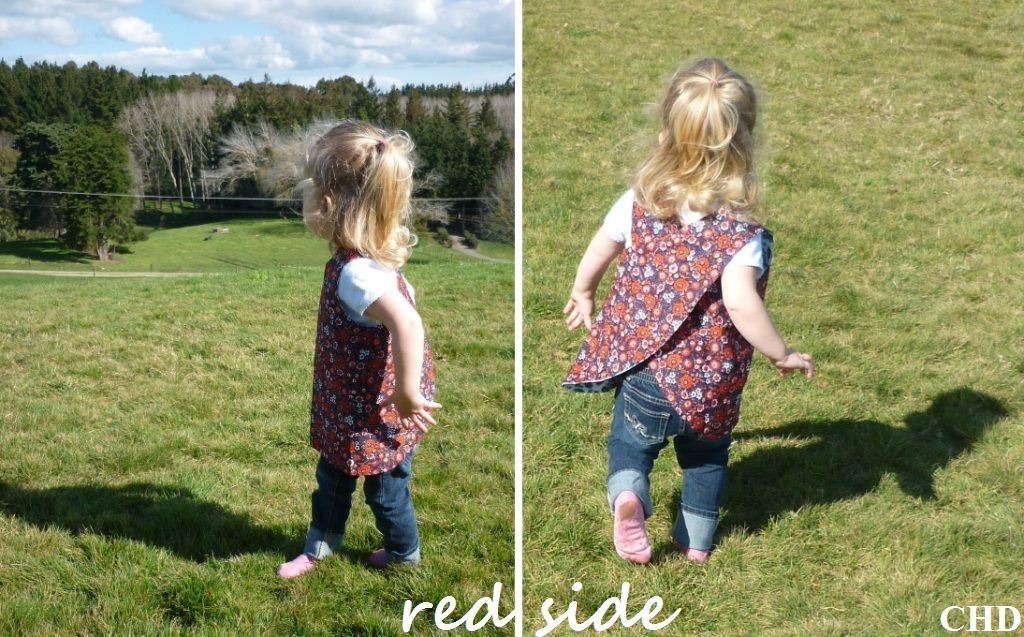 dee*construction: Make my Week #35 - draft your own pattern for a crossover pinafore dress for a little girl