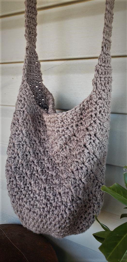 Crochet bag Taupe  natural cotton summer tote large crochet bag boho purse handmade summer beach bag crochet crossbody bag Heres a shopping bag I like simple fun quickend...