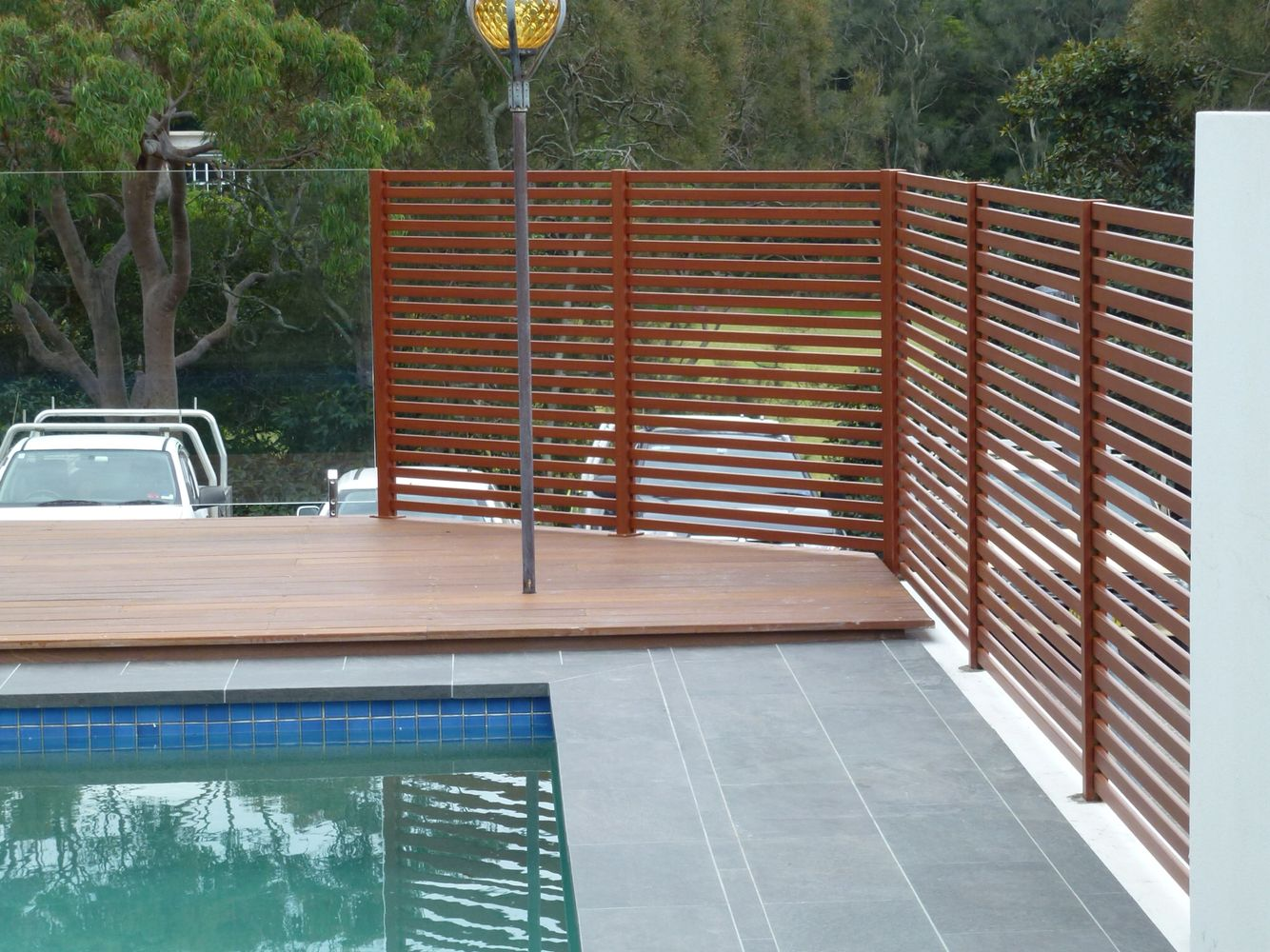 Pool Privacy Screen privacy screen fencing around pool with glass pool fencing
