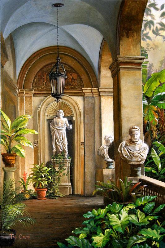Tropical Veranda Art Print by Tim Davis nel 2020