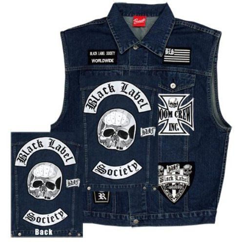 Black Label Society Brewtality Denim Vest Clothing Black Label Society Black Label Denim Vest