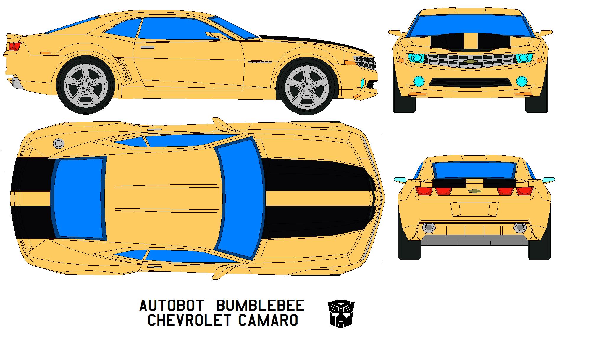 Bumble-Bee Camaro SS template - Google Search | carros diseños ...