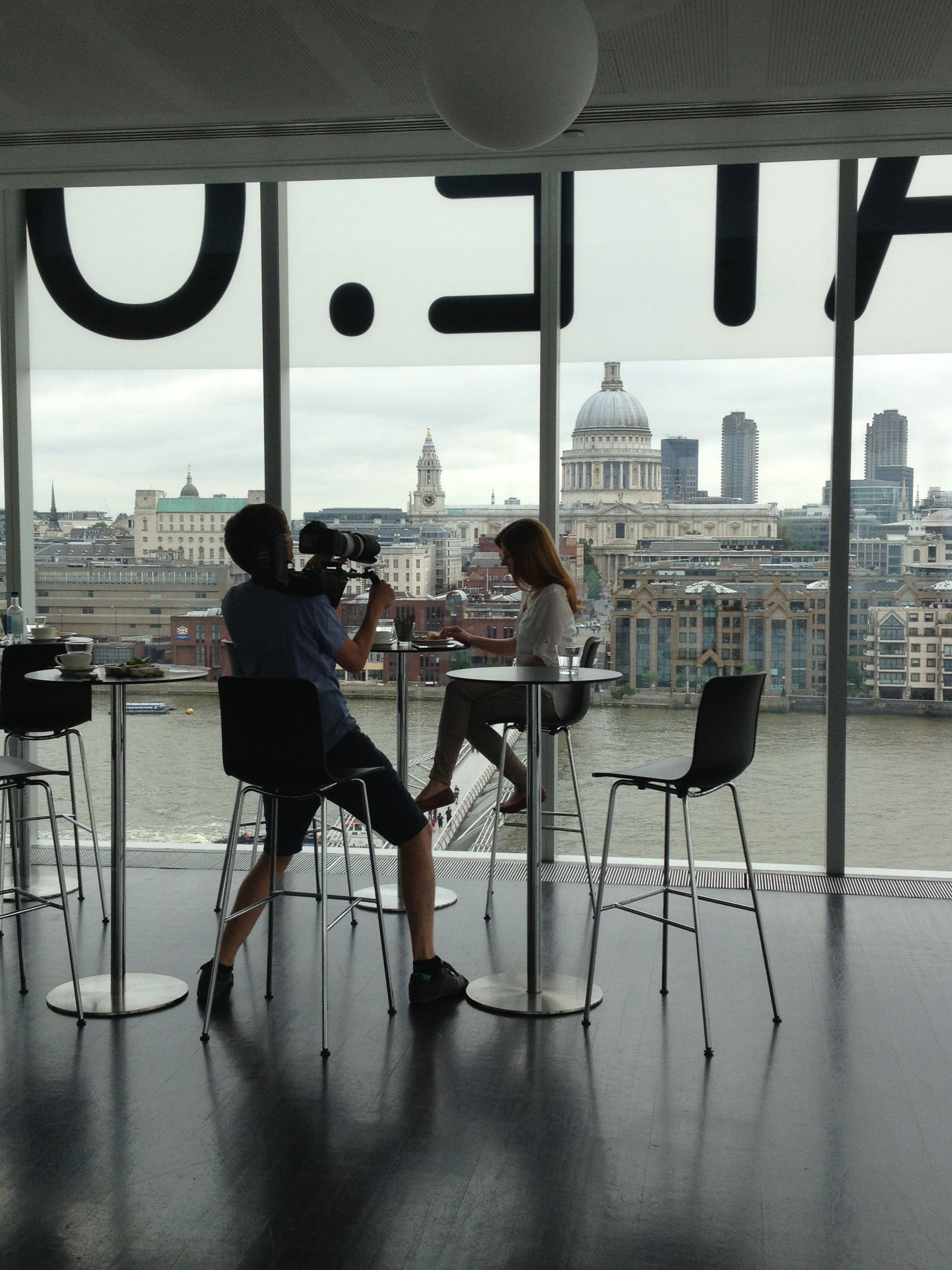 In The Tate Modern Cafe Can T Think Of A Better Place For An Amazing Video Shoot You Can See The Shot Of St Modern Photoshoot Photoshoot London Modern Cafe