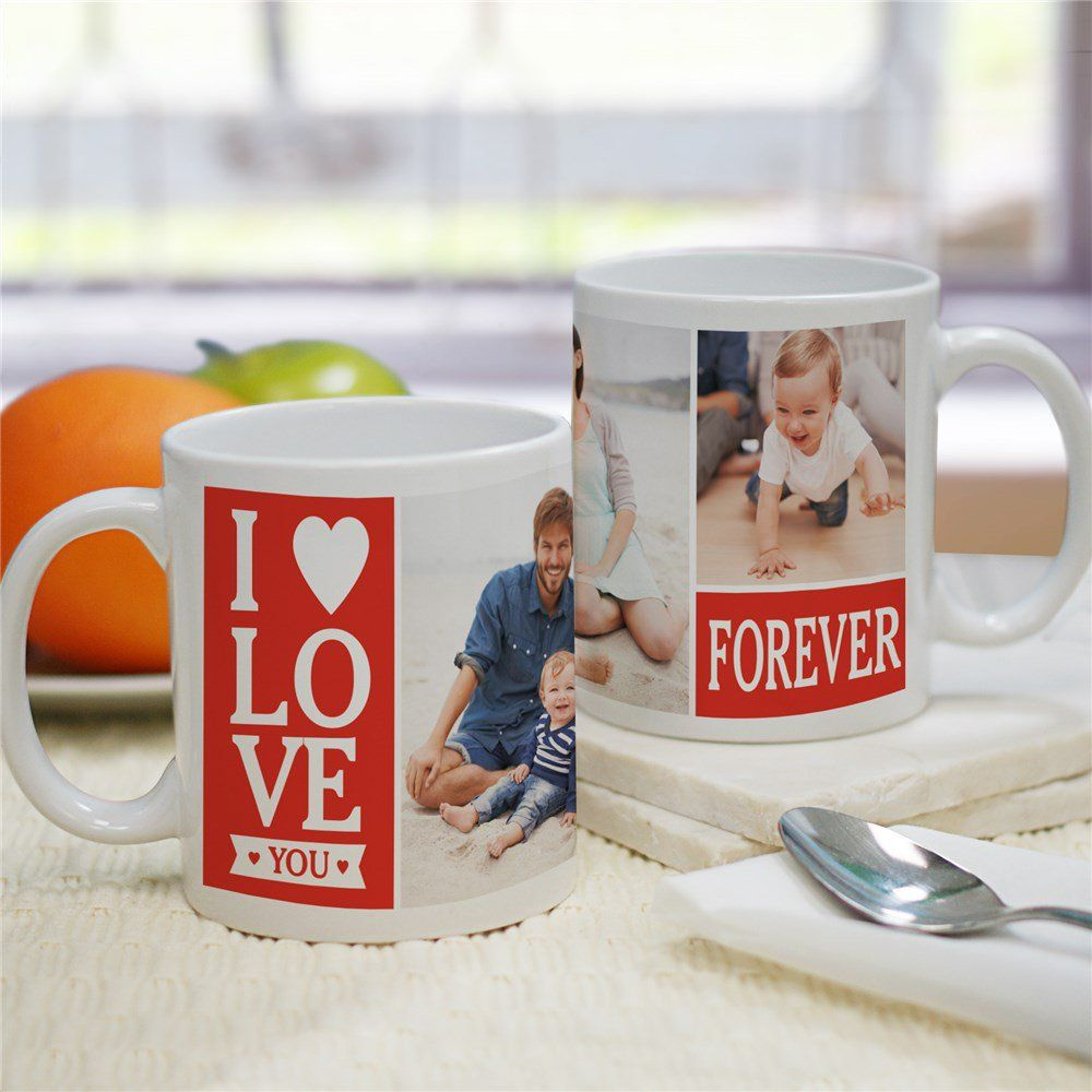 Love Forever Photo Mug in 2020 Mugs, Valentines mugs
