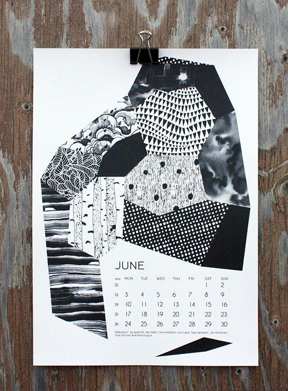 """""""Mattolaituri"""" by Reeta Ek, Meri Malmi, Tiina Pietiläinen, Ossi Laine, Teija Vartiainen, Sini Henttonen, Tiina Uimonen and Kaisa Korpua, for June in calendar 13."""
