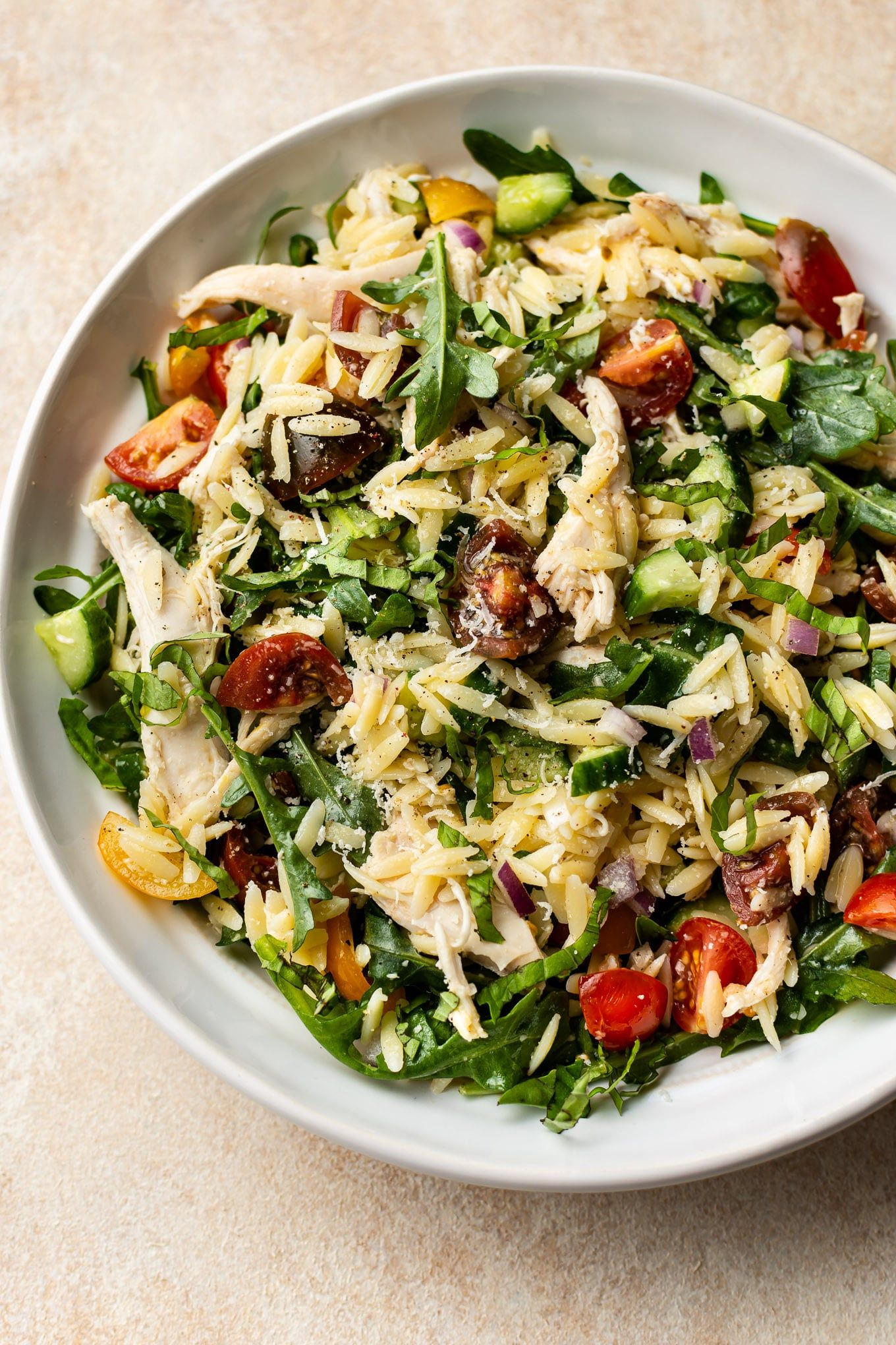 Photo of Lemon Orzo Salad with Chicken