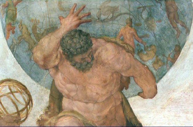 image of the god Atlas - Google Search | Mythology art, Art, Painting