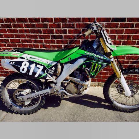 2006 Kawasaki Kx 250f Monster Energy Dirt Bike Blk Green White