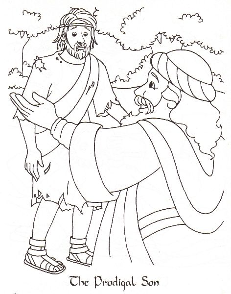 Parable of the Lost (Prodigal) Son - coloring page (From my ...