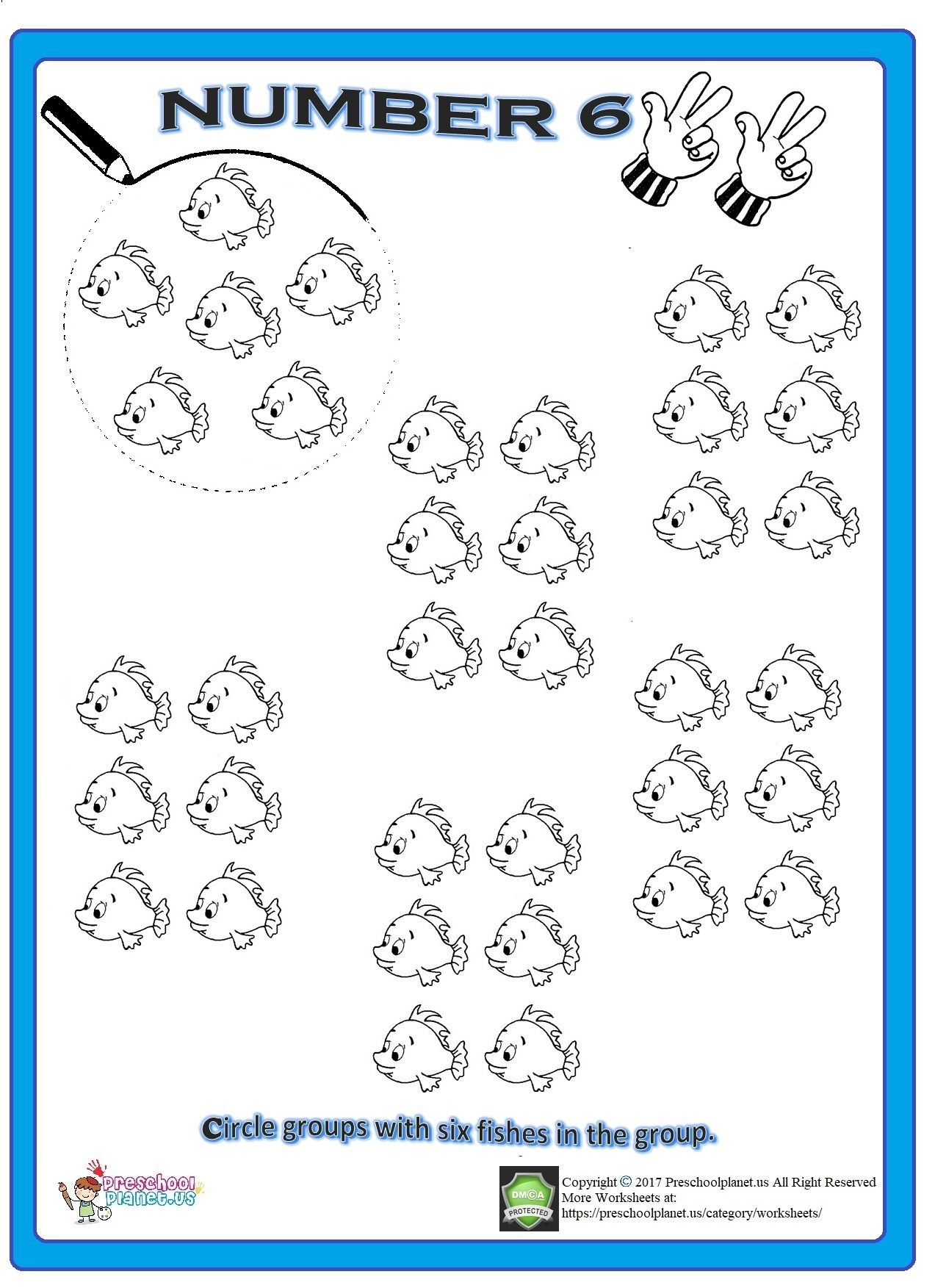 Number 6 Worksheet Numbers Preschool Printable Preschool Worksheets Preschool Number Worksheets