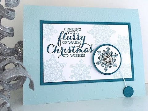 Simply Simple Flash Card  Spinning Snowflake Christmas Card By
