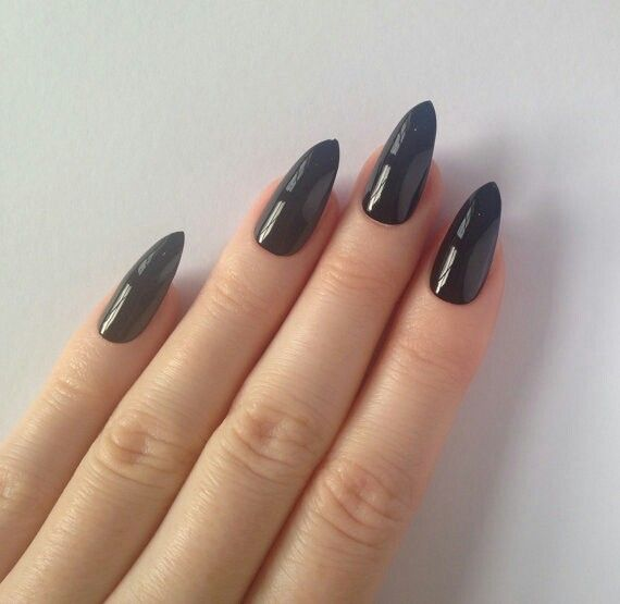 Black stiletto nails #nailpolish >> http://amykinz97.tumblr.com/ >> www.troubleddthoughts.tumblr.com/ >> https://instagram.com/amykinz97/ >> http://super-duper-cutie.tumblr.com/