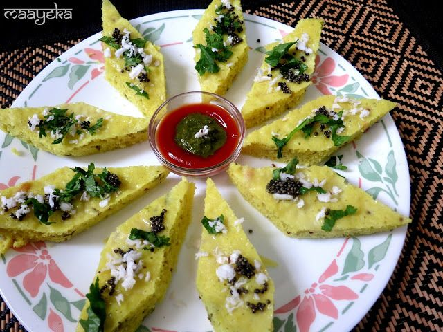 Maayeka authentic indian vegetarian recipes khatta dhokla food forumfinder Image collections