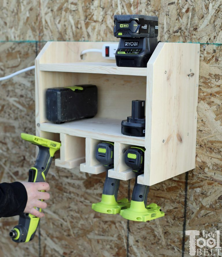 Custom Drill Storage and Charge Station - Easy - Her Tool Belt