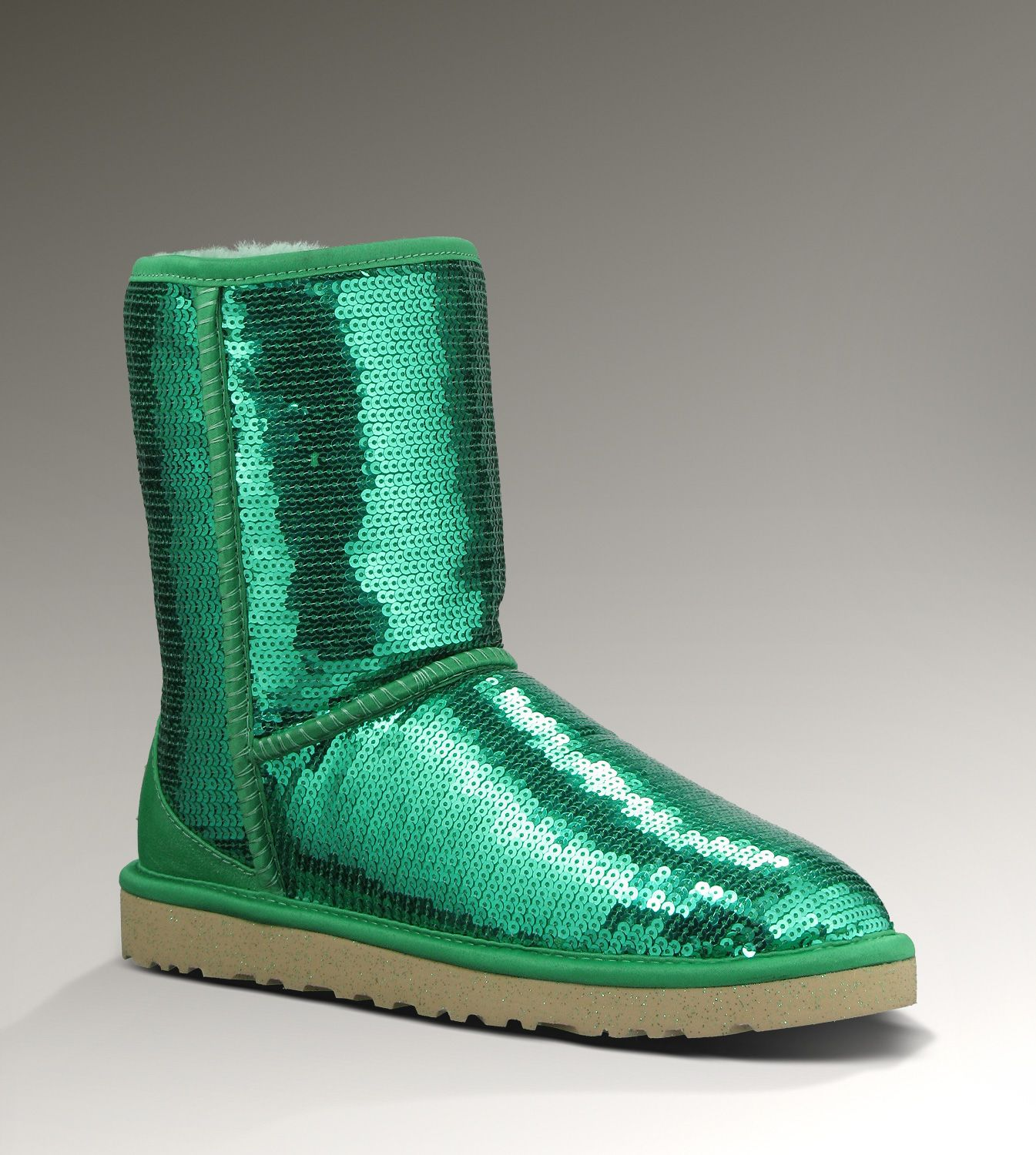 Green sparkle UGGs.   Boots, Ugg boots