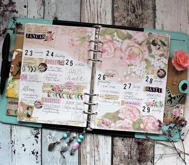 Filofaxing Roses Filofaxing Kalenderideen Scrapbooking Ideen