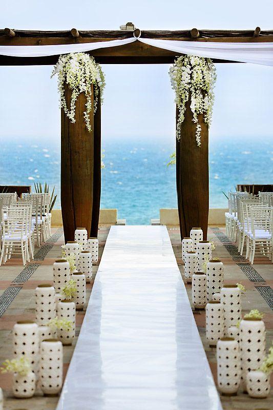 Gold Silver White Cabo Destination Wedding Junebug Weddings
