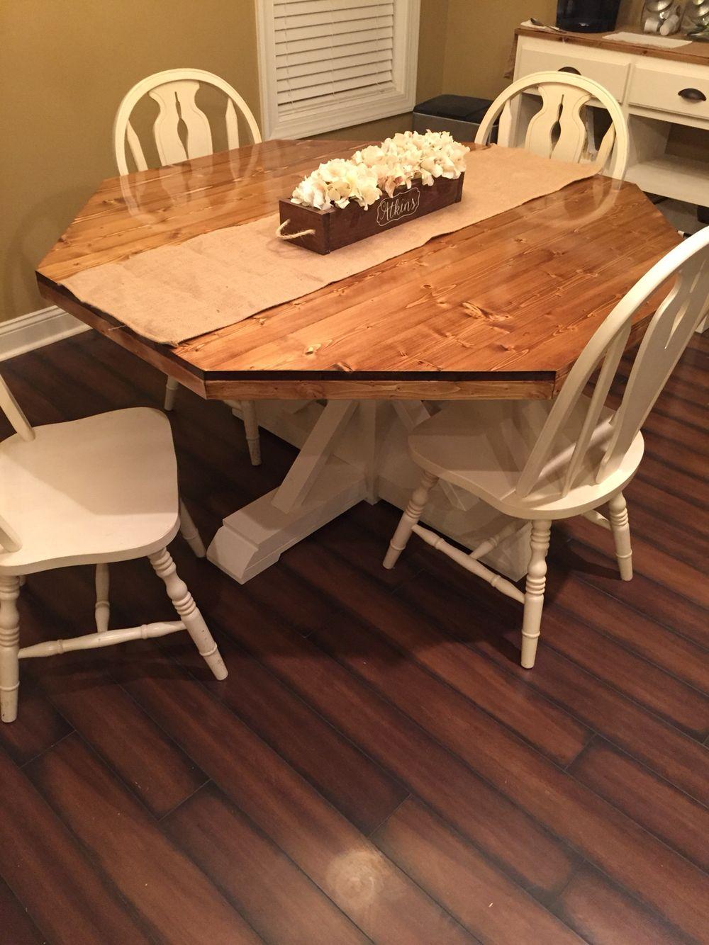 Rustic Octagon Table Octagon Table Kitchen Decor Banquette Diy