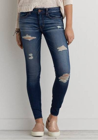 Tipos De Jeans O Vaqueros Superskinny Jeans Pantalones Mujer Jeans De Moda Ropa