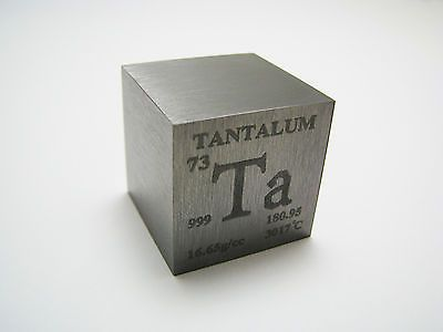 1 inch 254 mm Pure Tantalum metal element cube periodic table 999 - best of periodic table zr