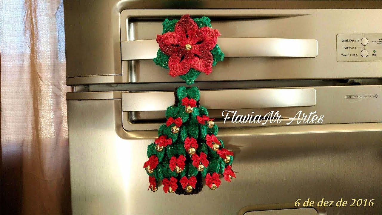 🌼Puxador de geladeira Árvore de Natal