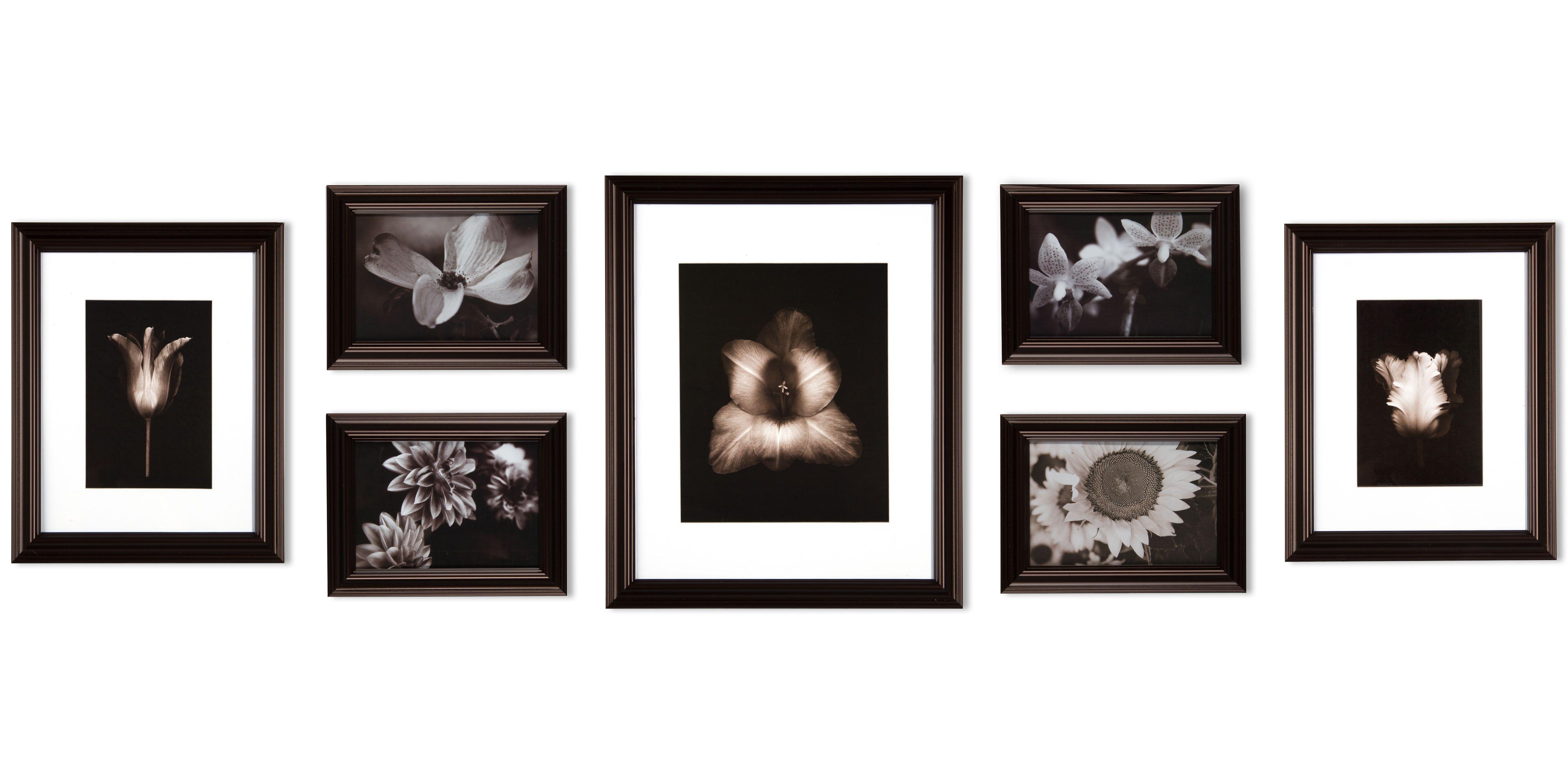 Gallery Perfect 7 Piece Walnut Studio Frame Kit, Beige &