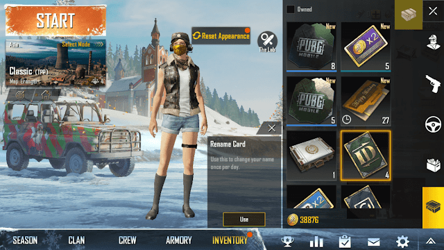 How to Change Account Name, Gender & Character Pubg Mobile Complete