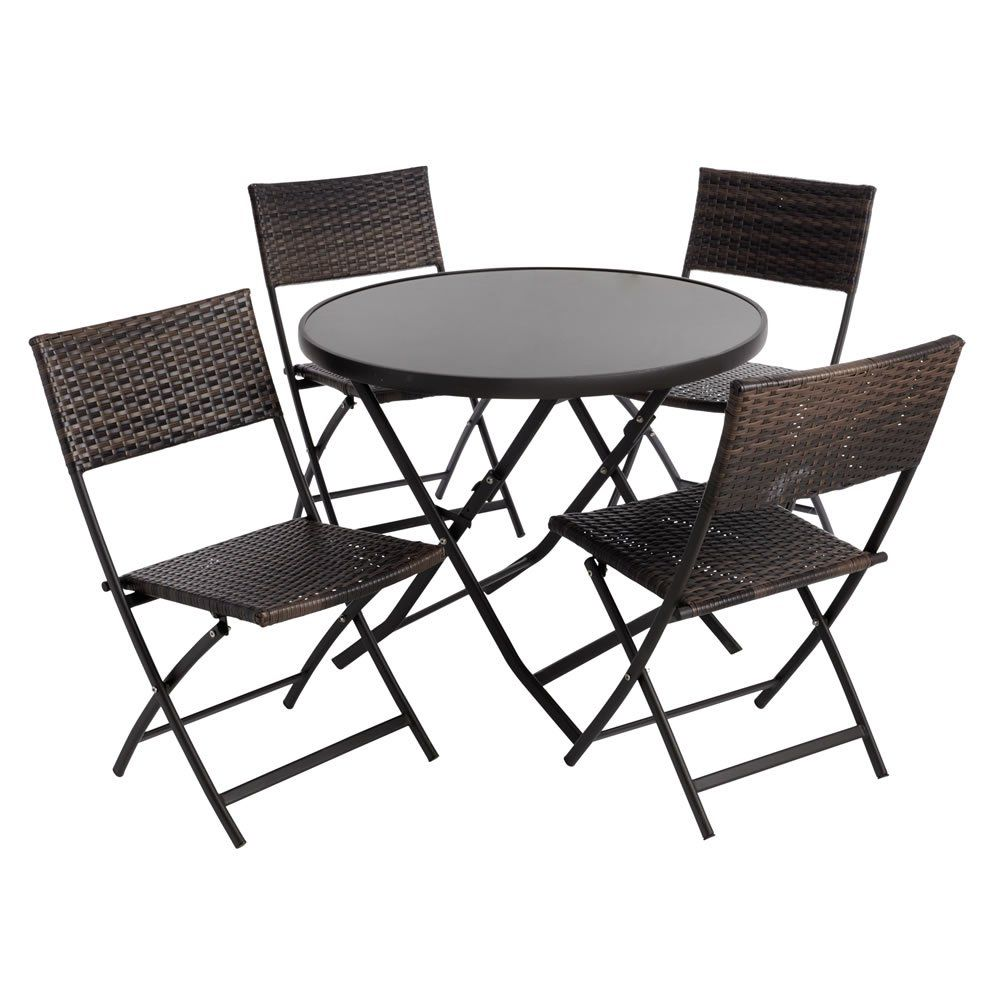 Palma Rattan Effect Garden Four Seat Set   Stylish outdoor ...