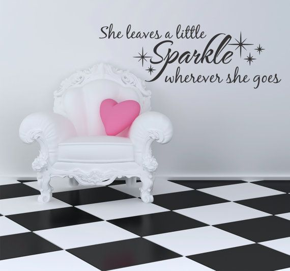 Love this she leaves a sparkle wall decal by decordesigns on