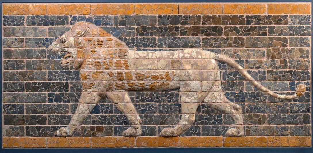 Pergamon Museum Berlin Schreitender Lowe Von Der Prozessionsstrasse Babylon Zeit Konig Nebukadnezars Ii 604 562 V Ancient Near East Ancient Tower Of Babel