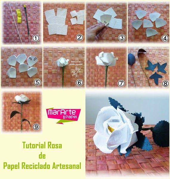 tutorial cmo hacer rosas con papel reciclado artesanal - Hacer Rosas De Papel