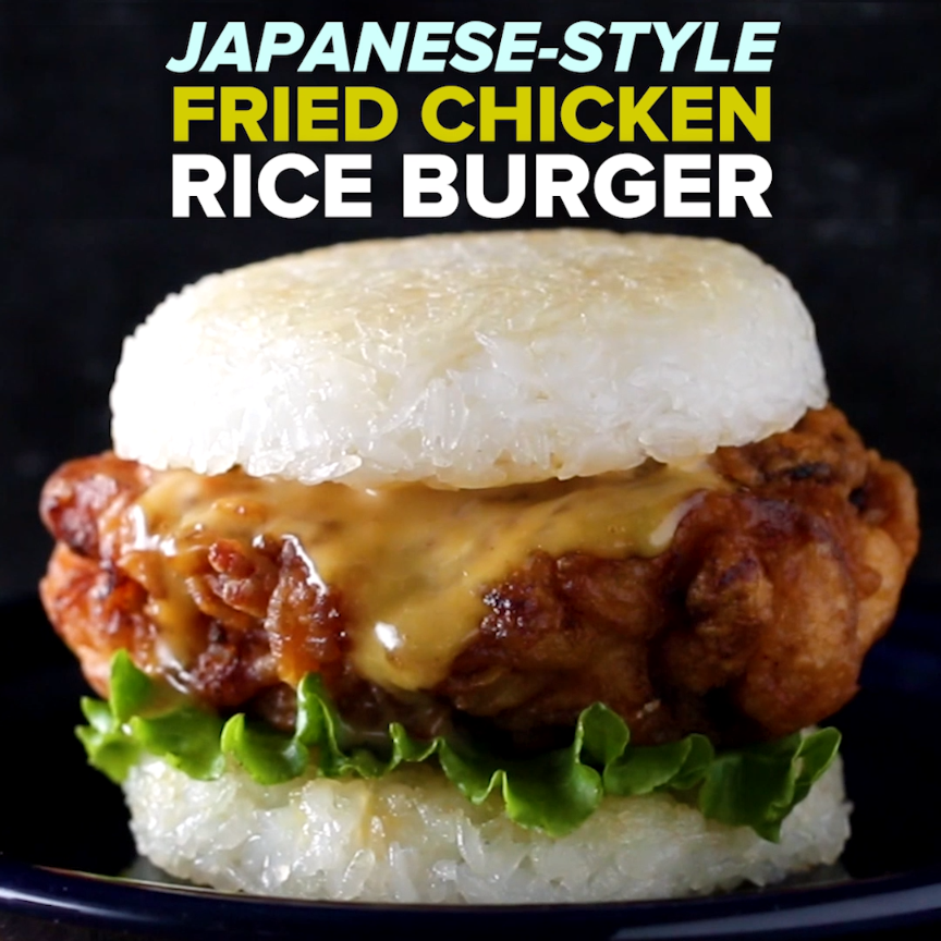 Japanese-Style Fried Chicken Rice Burger  Chicken Dinners -7287