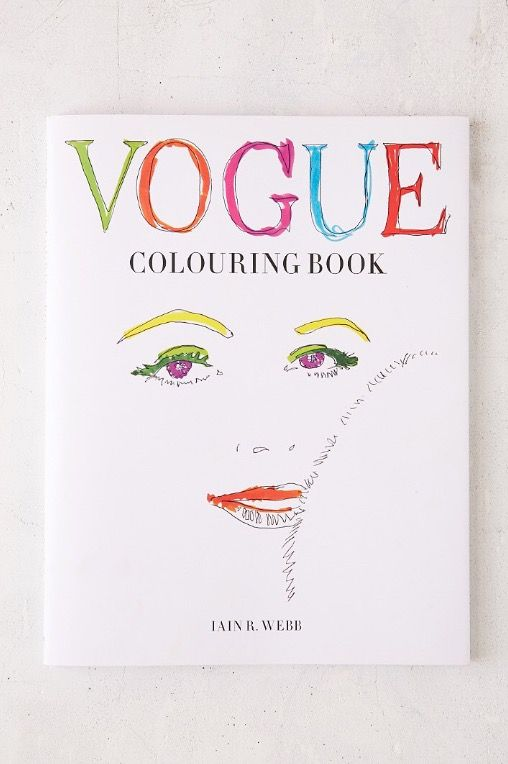 Vogue Coloring Book By Iain R Webb From Urban Outfitters