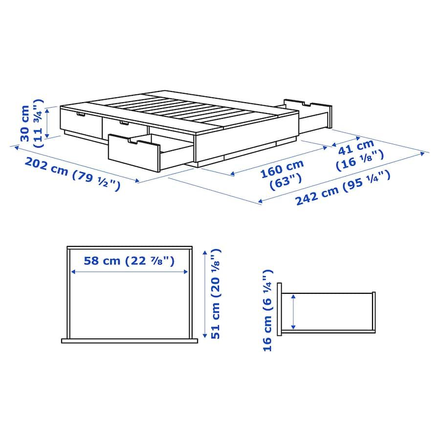 Nordli Bed Frame With Storage White Queen Ikea Bed Frame With Storage Ikea Nordli Bed Frame