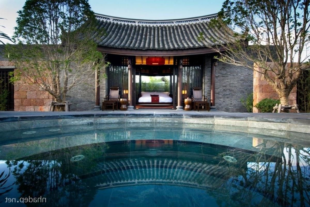 Exotic Tree Houses Bedroom Resort Design With Swimming Pool Chinese Architecture