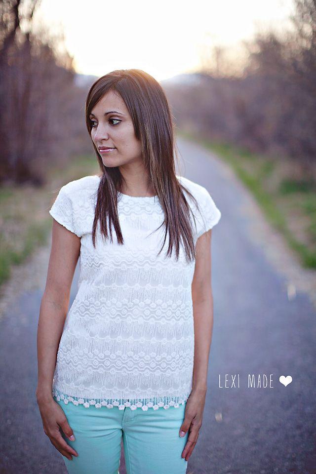 Women\'s Lace Exposed Zipper Top DIY | Nähen