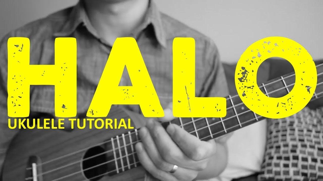 Halo beyonce easy ukulele tutorial chords how to