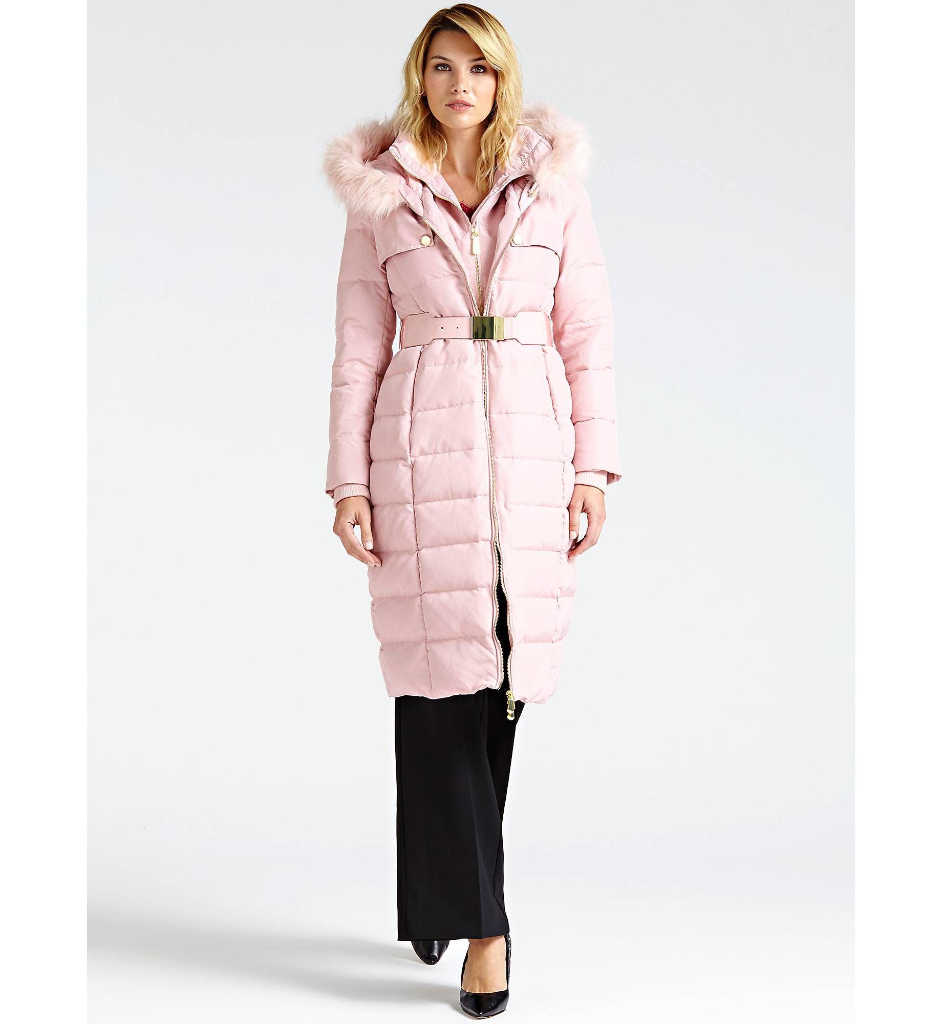 lowest price 808ae 04843 PIUMINO LUNGO PELLICCIA SINTETICA | GUESS.eu | Coat ...