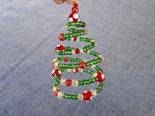 Tutorial Spiral Beaded Christmas Tree Ornament Christmas Bead