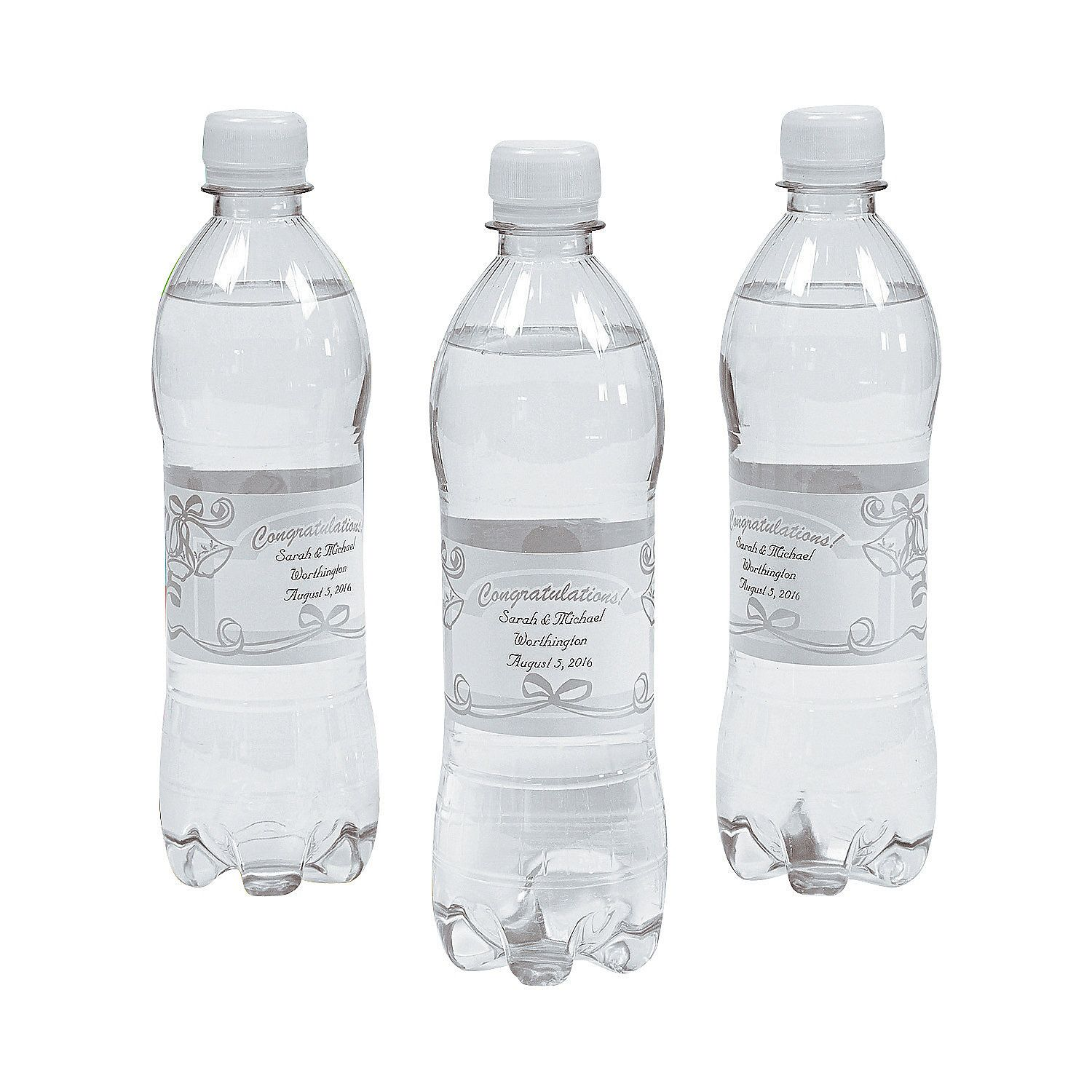 Personalized+Elegant+Wedding+Water+Bottle+Labels+-+MarryMe.com | The ...