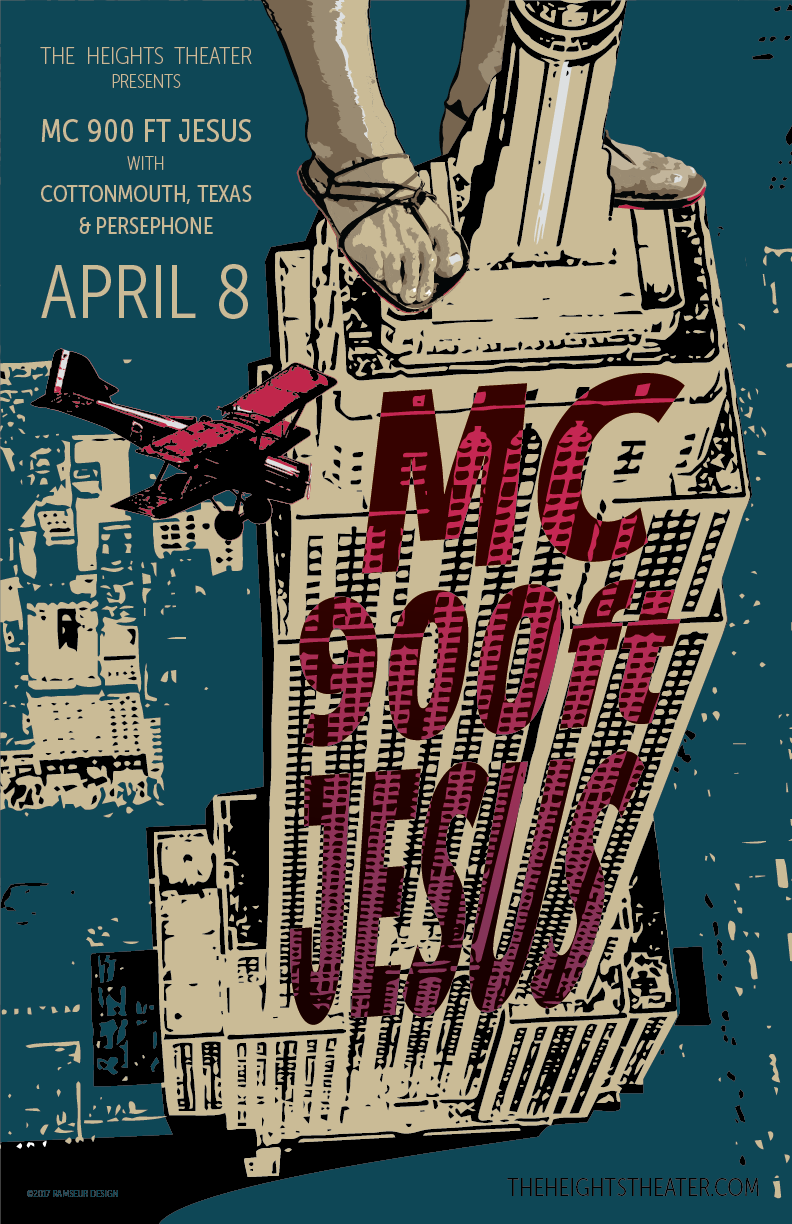 MC 900 Ft Jesus and Cottonmouth, Texas at The Heights in Houston
