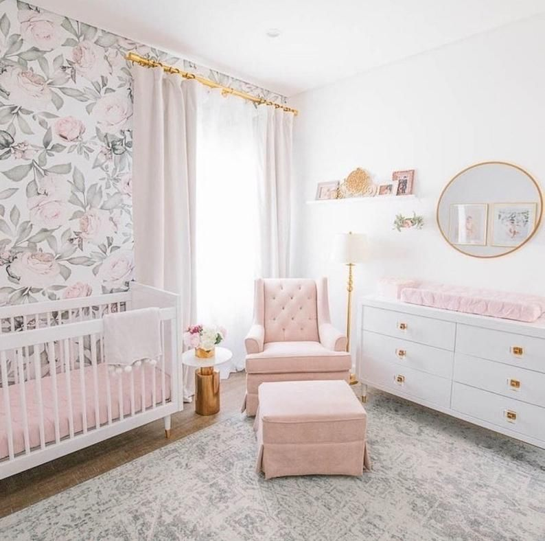 Avery Wallpapers Etsy Girl Nursery Room Baby