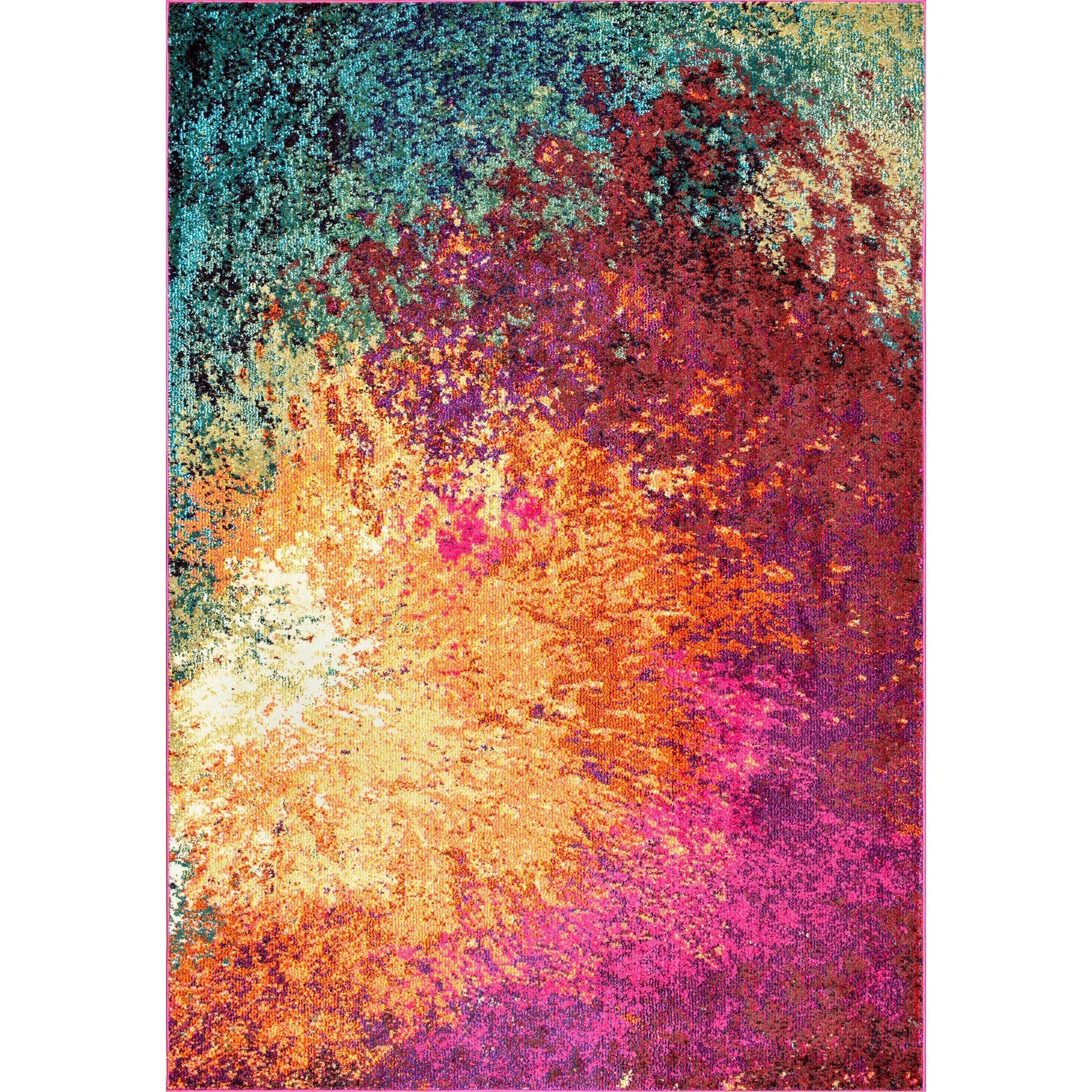 d4581491145aae nuLOOM Multi Vintage Inspired Abstract Fancy Vibrant Area Rug - 6'7