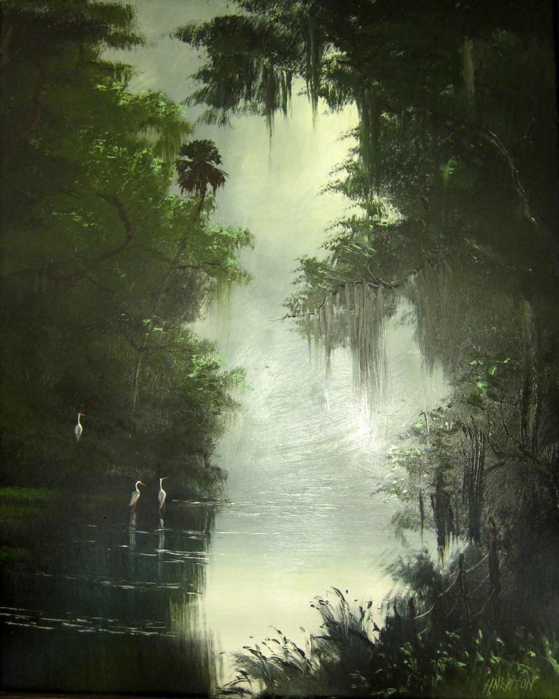 Highway men paintings | 17) Original Florida Highwaymen paintings currently on display!