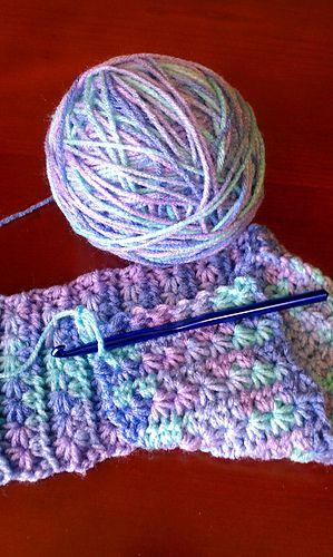 Janet Maries Crochet Star Stitch Scarf Free Easy Crochet Pattern