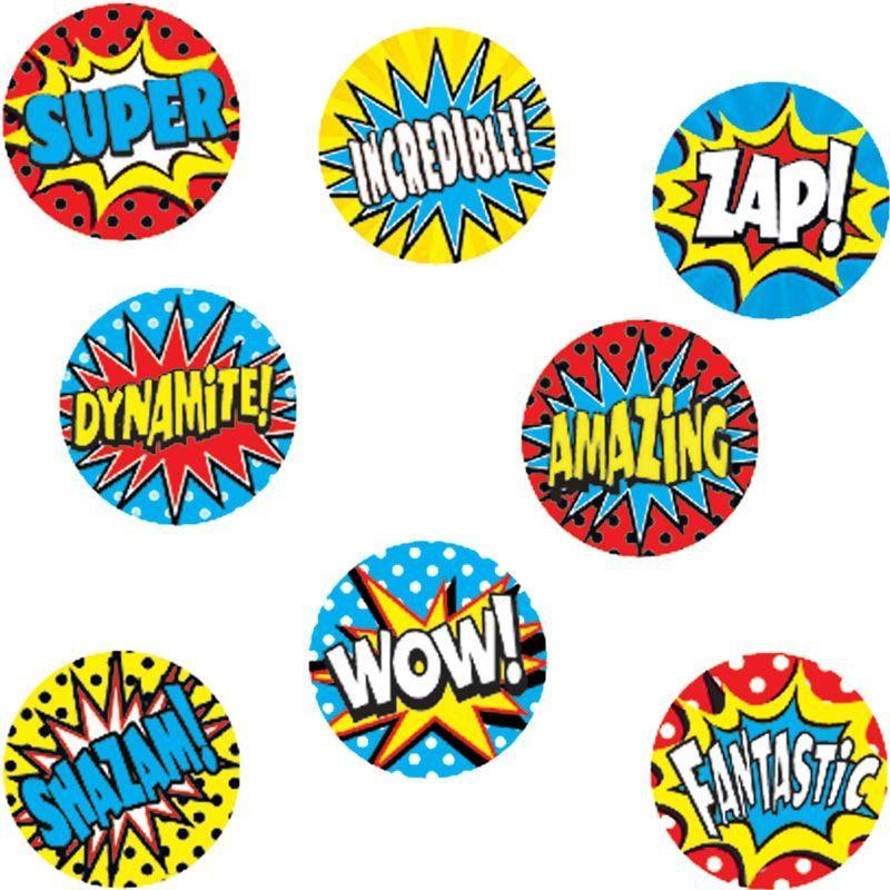 Superhero Mini Stickers ValuPak Superhero classroom
