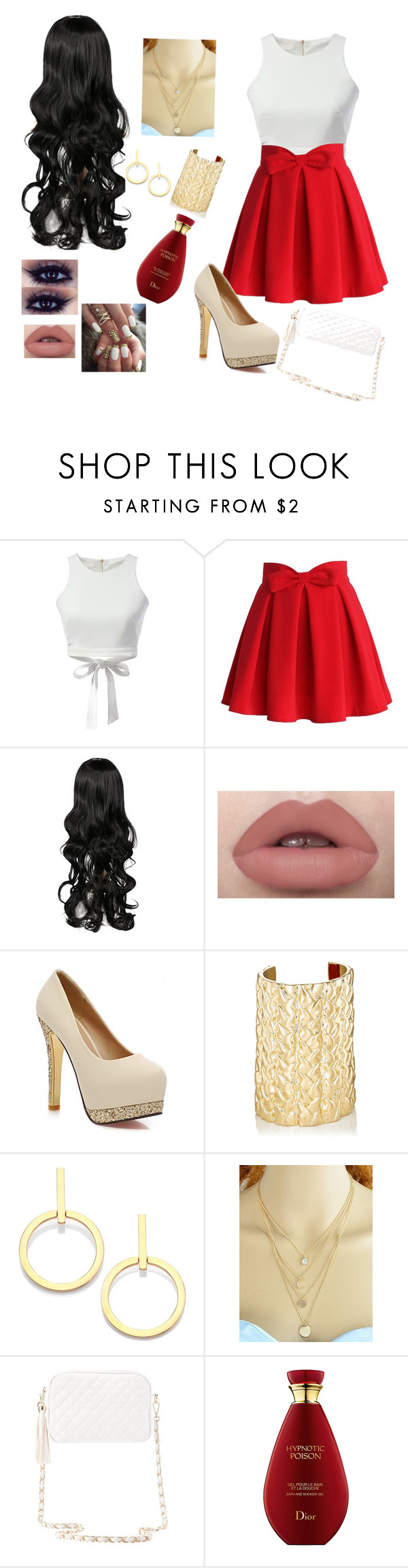 """#Walker175"" by magconfocuss ❤ liked on Polyvore featuring WithChic, Chicwish, Jennifer Fisher, Vita Fede and Charlotte Russe"