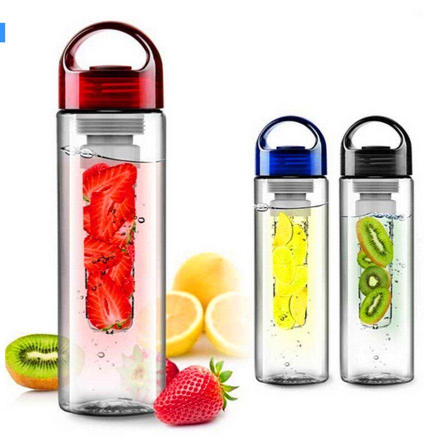 Health botttle Fruit cap 700mL Infuser Fruit Sports Lemon Juice Maker bike travel water bottle school Free shipping