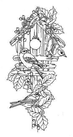 Birdhouse Coloring Page Google Search Pyrography Patterns Bird Coloring Pages Coloring Pages