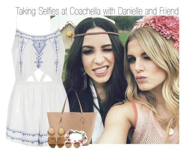 """""""Taking Selfies at Coachella with Danielle and Friend"""" by elise-22 ❤ liked on Polyvore featuring Ally Fashion, Neiman Marcus, Topshop, Yves Saint Laurent, daniellepeazer, coachella, friend and selfie"""